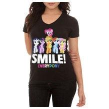 My Little Pony Smile Everypony V-Neck T-Shirt