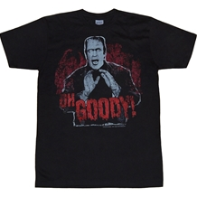 Munsters Shirts -  Munsters Oh Goody! Black T-Shirt