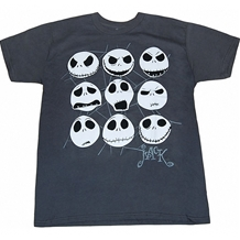 Nightmare Before Christmas Jack Faces T-Shirt