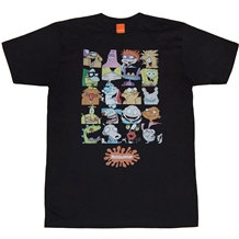 Nickelodeon Nick Rewind 90's Group Squares T-Shirt