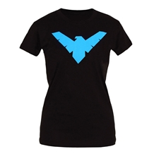 Nightwing Symbol Junior Ladies T-Shirt