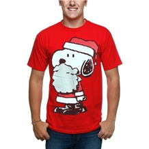 Peanuts Snoopy Santa Costume T-Shirt | AnimationShops.com