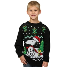Peanuts Snoopy Ugly Christmas Youth Sweater