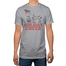 Peanuts Snoopy Charlie Brown Holiday Cheer Christmas T-shirt | AnimationShops.com