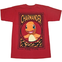 Pokemon Charmander Fire Block Mens T-Shirt