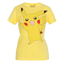 Pokemon Pikachu Wave Junior Ladies T-Shirt