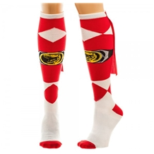 Power Rangers Red Caped Knee High Socks