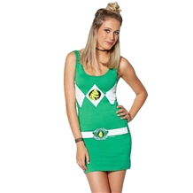 Green Power Ranger Costume Tunic Tank Dress