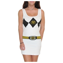Power Rangers White Ranger Costume Tank Dress