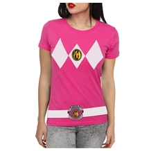 Power Rangers Pink Ranger Costume Junior T-Shirt