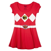 Red Power Ranger Costume Skater Dress