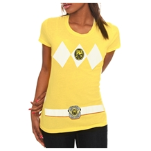 Power Rangers Yellow Ranger Costume Junior T-Shirt