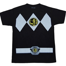 Mighty Morphin Power Rangers Black Ranger Costume T-Shirt