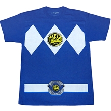 Mighty Morphin Power Rangers Blue Ranger Costume T-Shirt