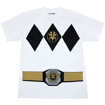 Power Rangers White Ranger with Belt Costume T-Shirt