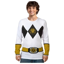 Power Rangers White Ranger Long Sleeve Costume T-Shirt