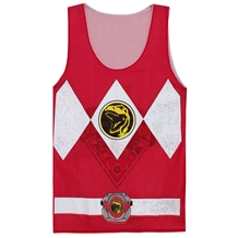 I Am Red Ranger Reversible Mens Tank Top