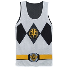 I Am White Ranger Reversible Mens Tank Top