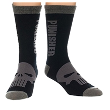 Punisher Text Logo Crew Socks