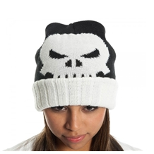 Punisher Jacquard Roll-Up Beanie