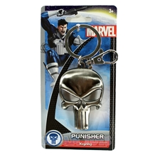 Punisher Skull Logo Pewter Key Chain