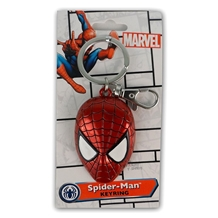 Spider-man Head Colored Pewter Key Chain
