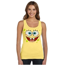 SpongeBob Face Junior Women's Tank Top