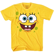 SpongeBob Face Adult T-Shirt