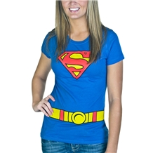 Supergirl Costume Junior Ladies T-Shirt