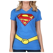 Supergirl Cape Costume V-Neck Shirt