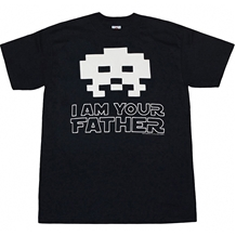 Space Invaders Alien Father T-Shirt
