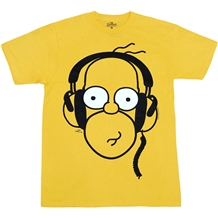 Simpsons Homer Headphones T-Shirt