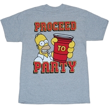 Simpsons Proceed To Party T-Shirt