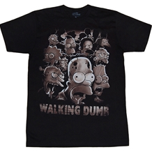 Simpsons Walking Dumb T-Shirt