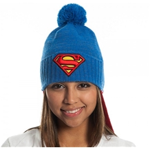 Superman Caped Pom Pom Beanie