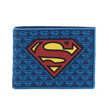 Superman Mini Logos Rubber Bi-Fold Wallet
