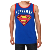 Superman Shield Contrast Tank Top