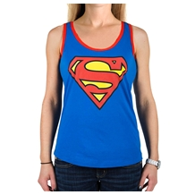 Superman Shield Junior Racerback Tank Top