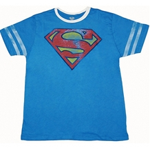 Superman Distressed Symbol Soccer T-Shirt