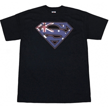Superman Australian Sheild Adult Tee
