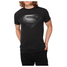 Superman: Man Of Steel Black Symbol T-Shirt