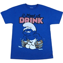 Smurfs I Need A Drink T-Shirt