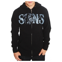 Sons Of Anarchy Crossed Guns Reaper Hoodie