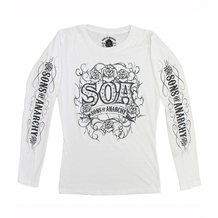 Sons Of Anarchy Tribal Roses Long Sleeve Shirt