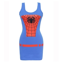 Spider-man Costume Tunic Tank Dress