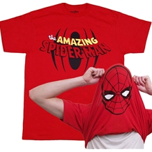 Amazing Spider-man Flip Over Spidey Mask T-Shirt