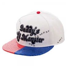 Suicide Squad Daddy's Lil Monster Sequin Snapback Hat