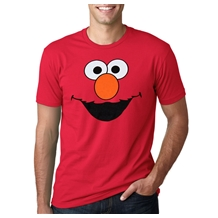 Sesame Street Elmo Face Adult T-Shirt