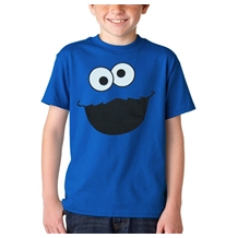 Sesame Street Cookie Monster Face Youth Kids T-Shirt