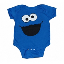 Cookie Monster Face Infant Onesie Romper